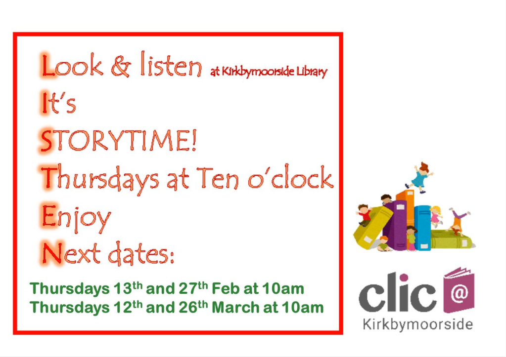 Storytime for February and March